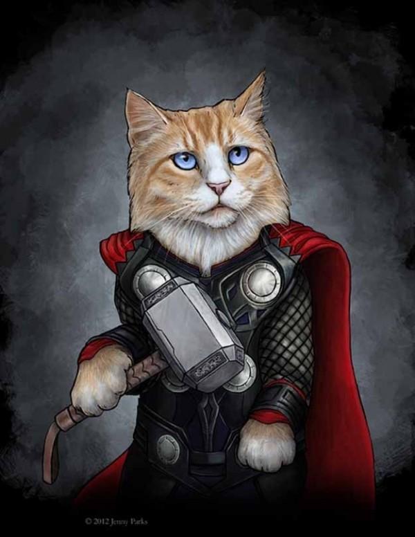 如果復仇者聯盟的角色都是貓星人3