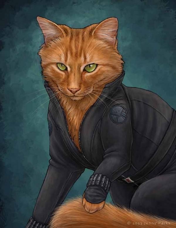 如果復仇者聯盟的角色都是貓星人4