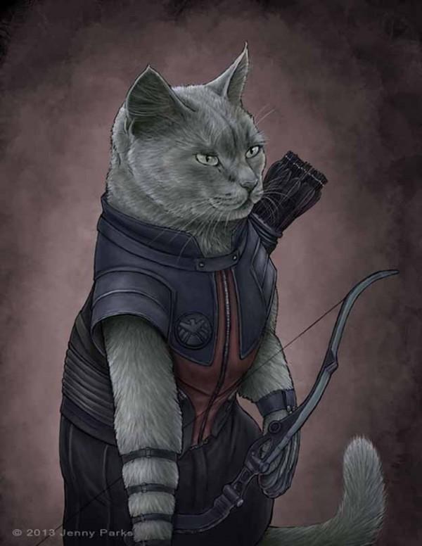 如果復仇者聯盟的角色都是貓星人5
