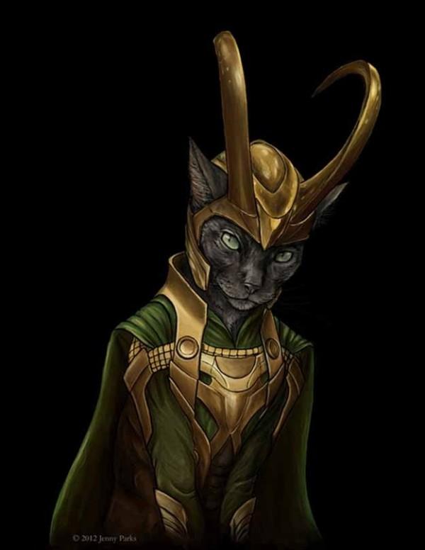 如果復仇者聯盟的角色都是貓星人7