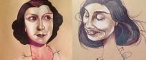媽媽和小孩一起畫的藝術塗鴉