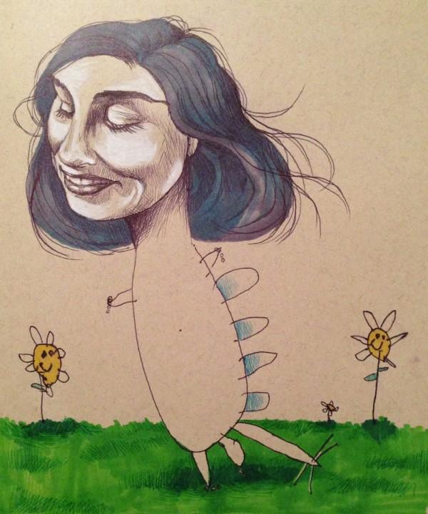 媽媽和小孩一起畫的藝術塗鴉1