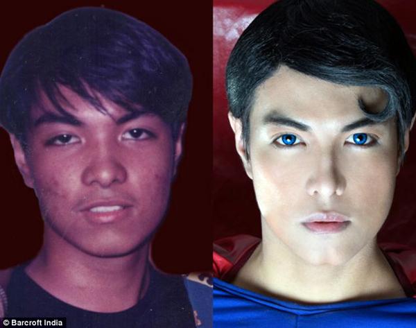 把自己整型成超人的菲律賓人1