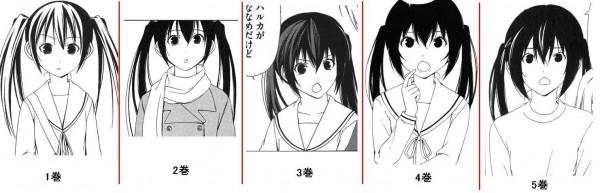 日本動漫角色的畫風演化5