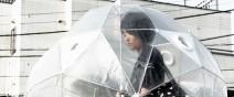 有沒有這麼怕雨?日本的全方位雨傘