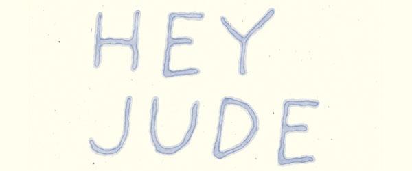 經典老歌Hey-Jude之一句歌詞一張海報