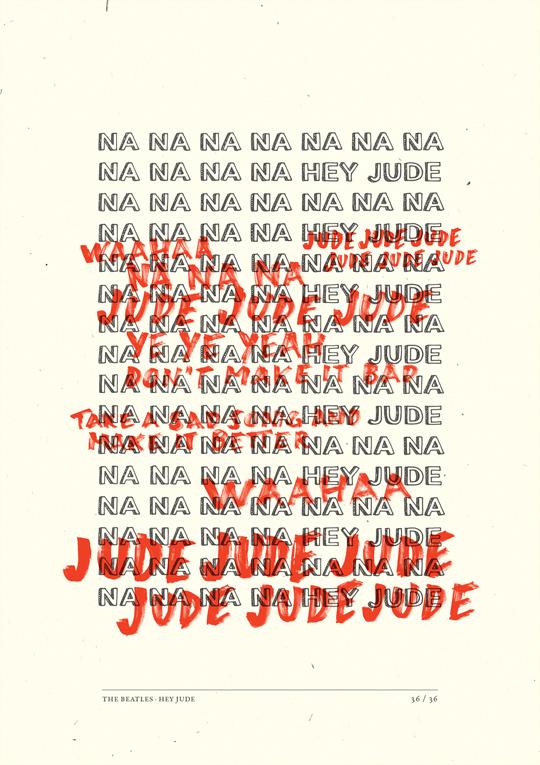 經典老歌Hey Jude之一句歌詞一張海報15