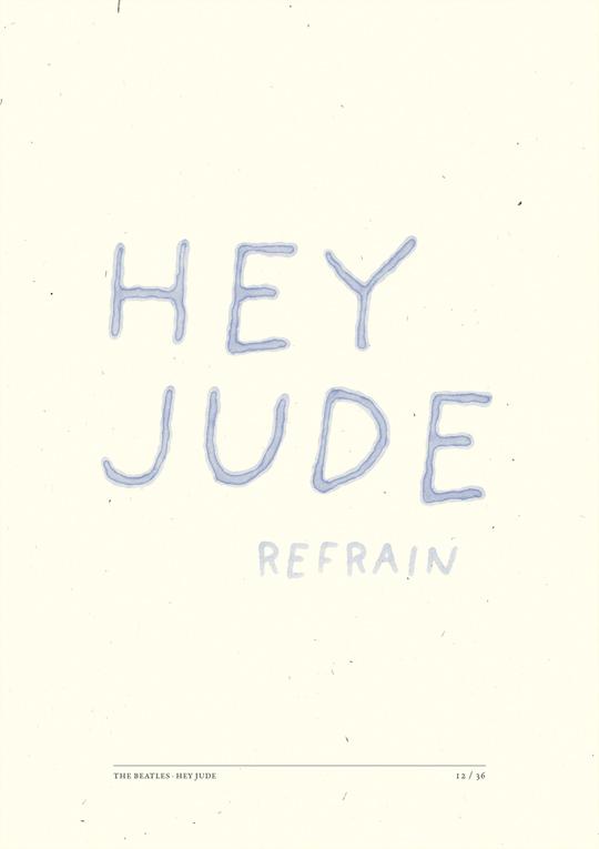 經典老歌Hey Jude之一句歌詞一張海報6