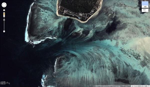 衛星拍到的超逼真巨型海底瀑布6