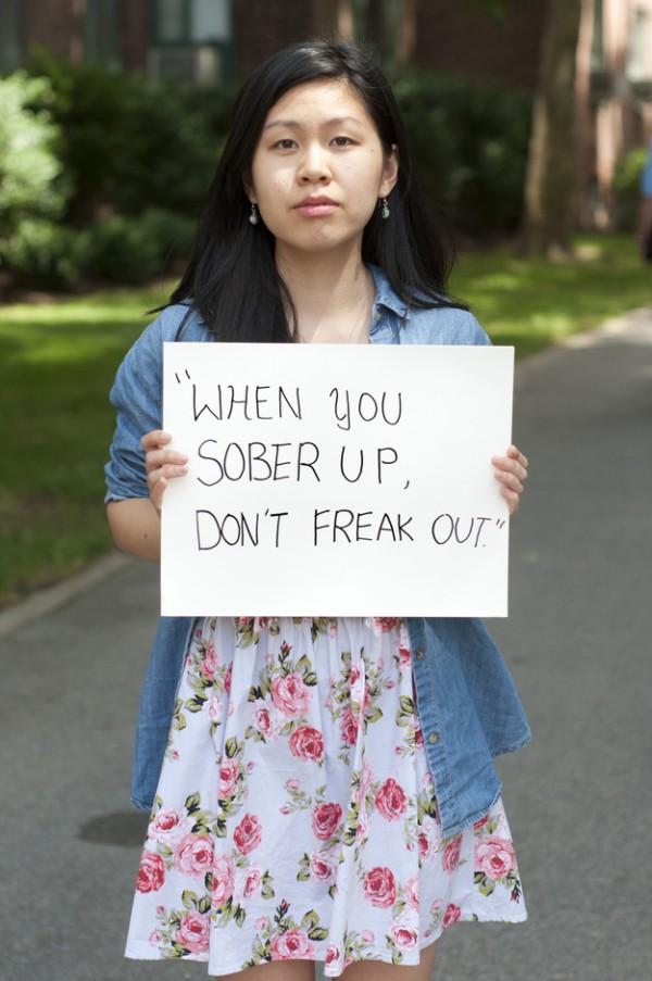 被強暴的人勇敢寫下強暴犯說過的話20
