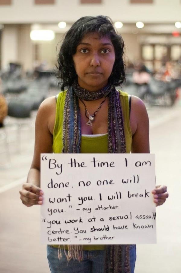被強暴的人勇敢寫下強暴犯說過的話9