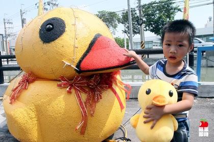 這是認真的,彰化版黃色小鴨長這樣2