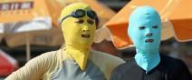 中國海邊防曬奇行種:蒙面罩頭