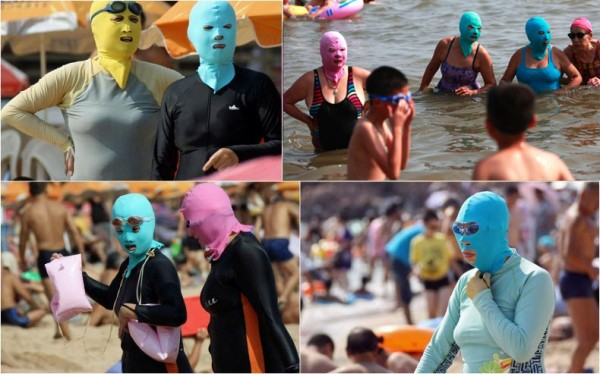 中國海邊防曬奇行種:蒙面罩頭1