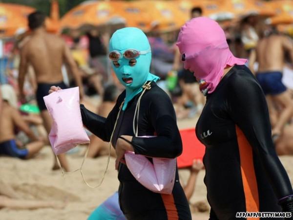 中國海邊防曬奇行種:蒙面罩頭10