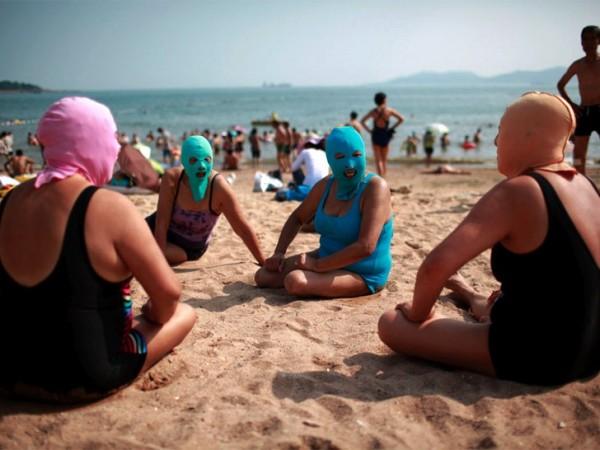 中國海邊防曬奇行種:蒙面罩頭2
