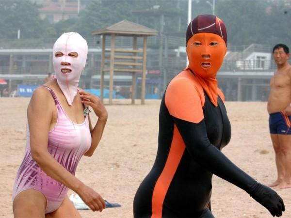 中國海邊防曬奇行種:蒙面罩頭3