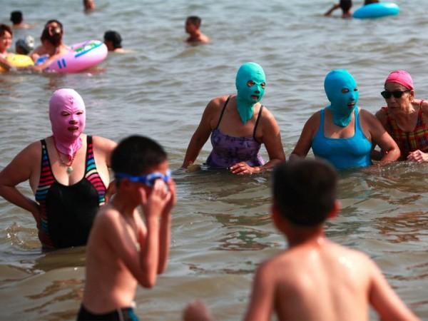 中國海邊防曬奇行種:蒙面罩頭4