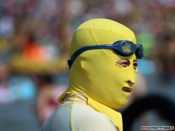 中國海邊防曬奇行種:蒙面罩頭5
