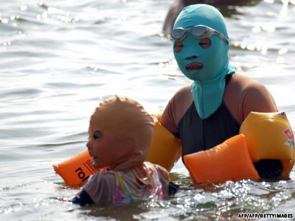 中國海邊防曬奇行種:蒙面罩頭6