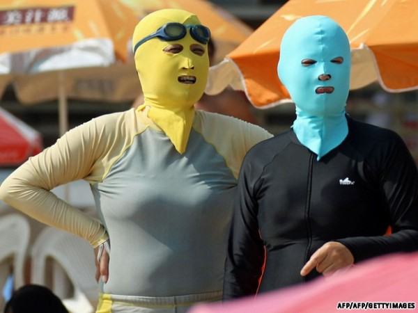 中國海邊防曬奇行種:蒙面罩頭9