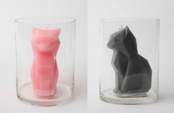 可愛寵物造型的蠟燭熔化變成驚悚骨骸!2