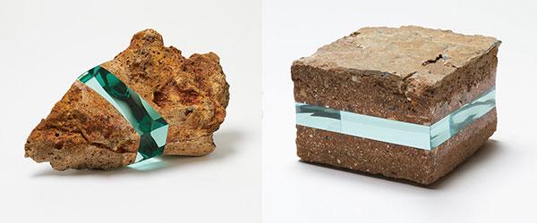 石頭裡插入一層玻璃...難以言喻的美麗