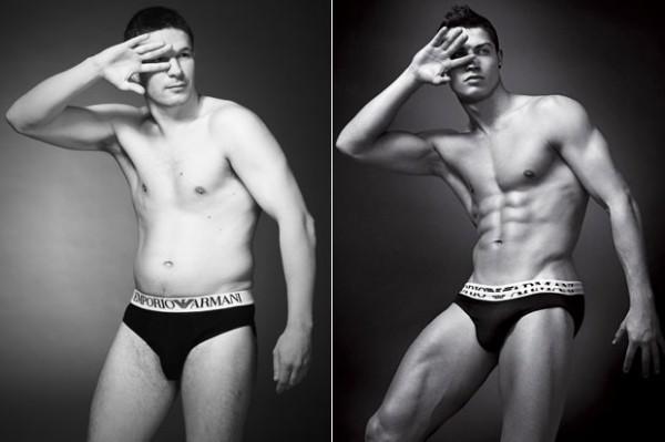 素人挑戰男模內褲廣告,成果...就還好4