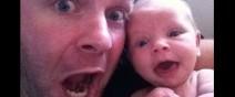 這位爸爸跟小孩是同一個模子印出來的0