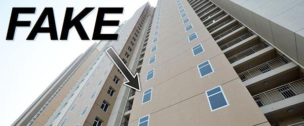 這哪招?中國建商的大樓窗戶用畫的