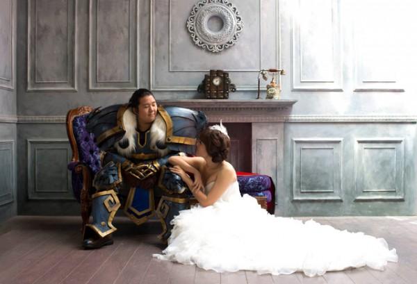 兩人並肩砍怪!魔獸世界婚紗照2