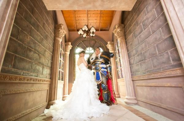 兩人並肩砍怪!魔獸世界婚紗照3