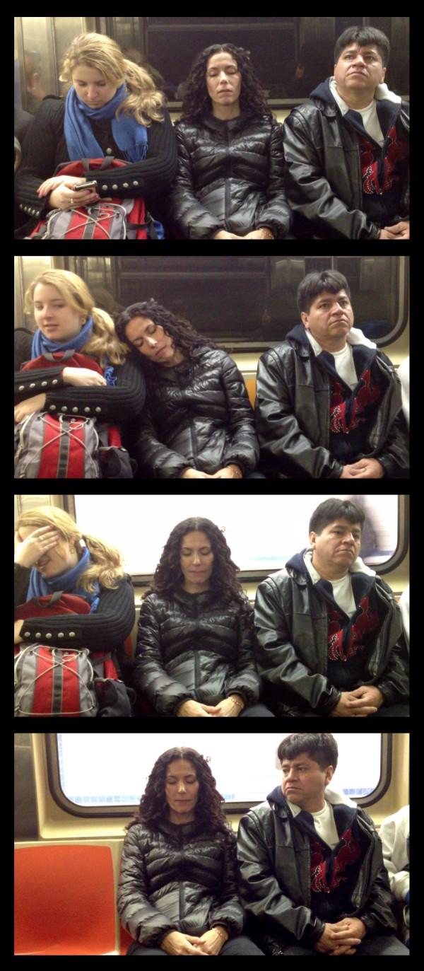 大家對陌生人睡著靠到自己肩膀的反應2