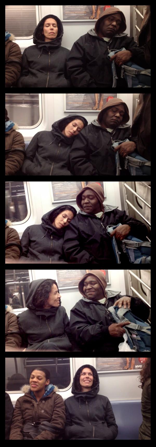 大家對陌生人睡著靠到自己肩膀的反應3