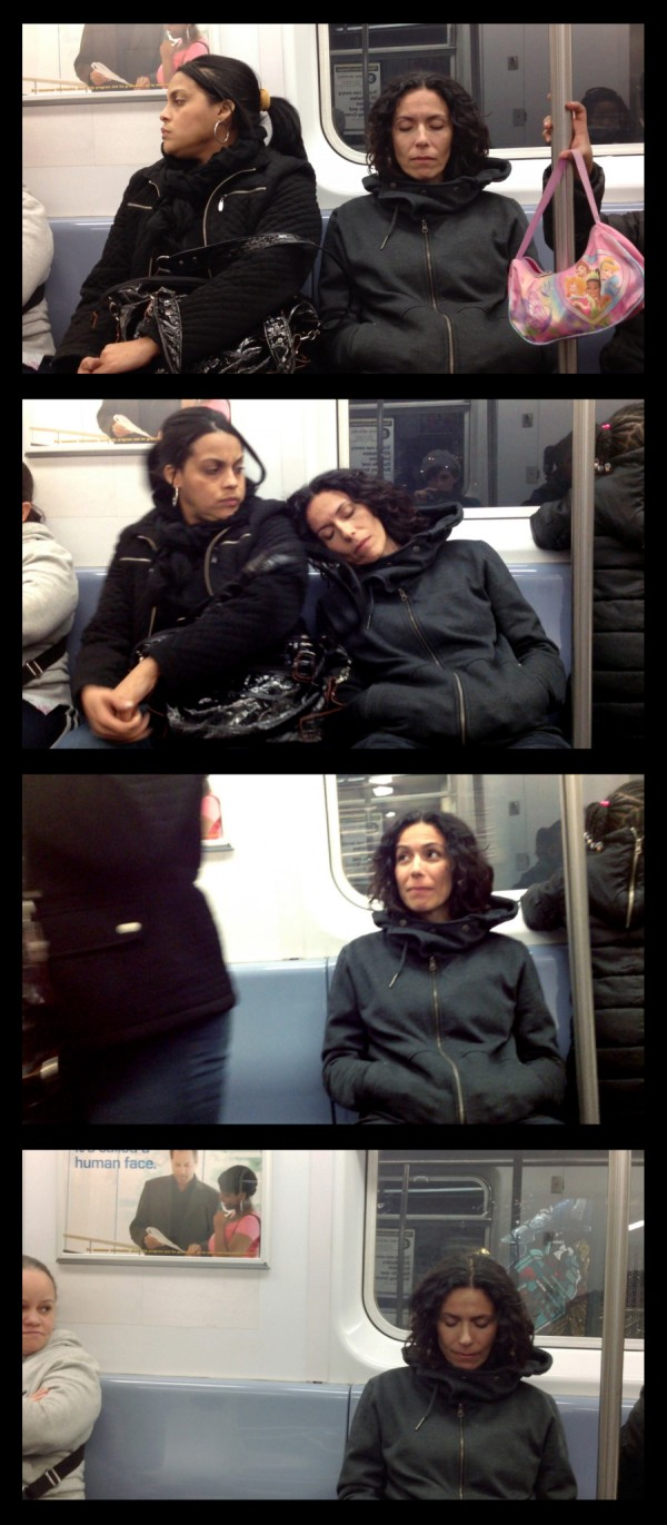 大家對陌生人睡著靠到自己肩膀的反應4
