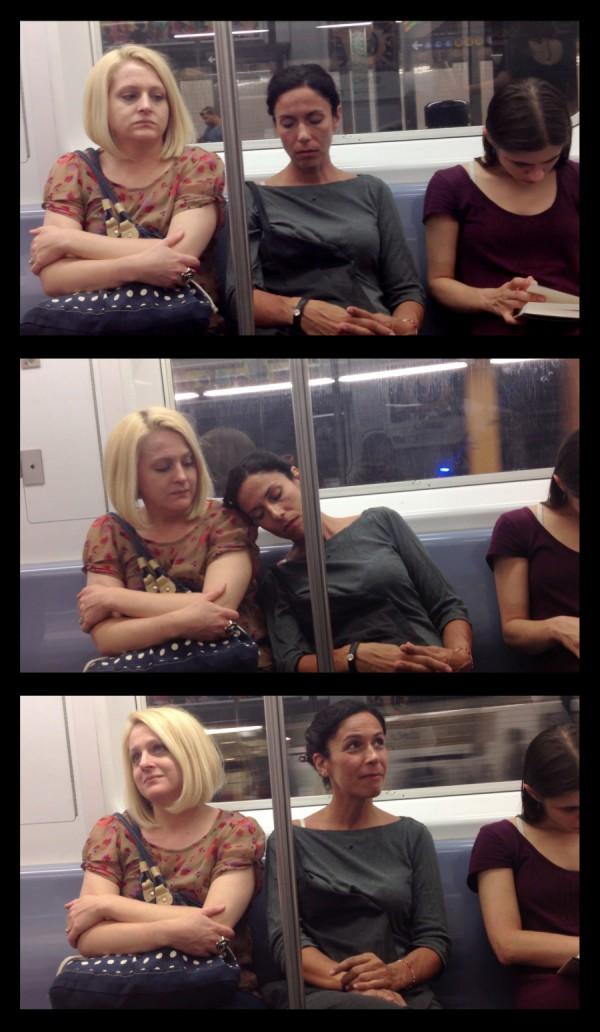大家對陌生人睡著靠到自己肩膀的反應5