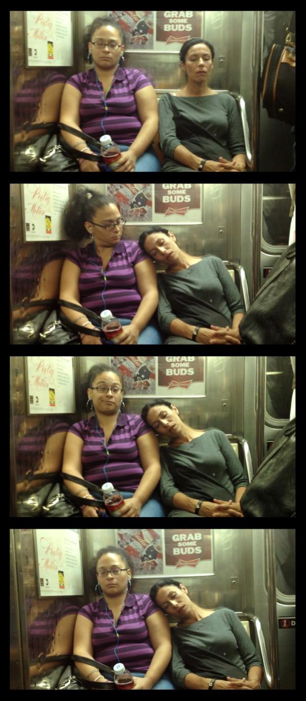大家對陌生人睡著靠到自己肩膀的反應6