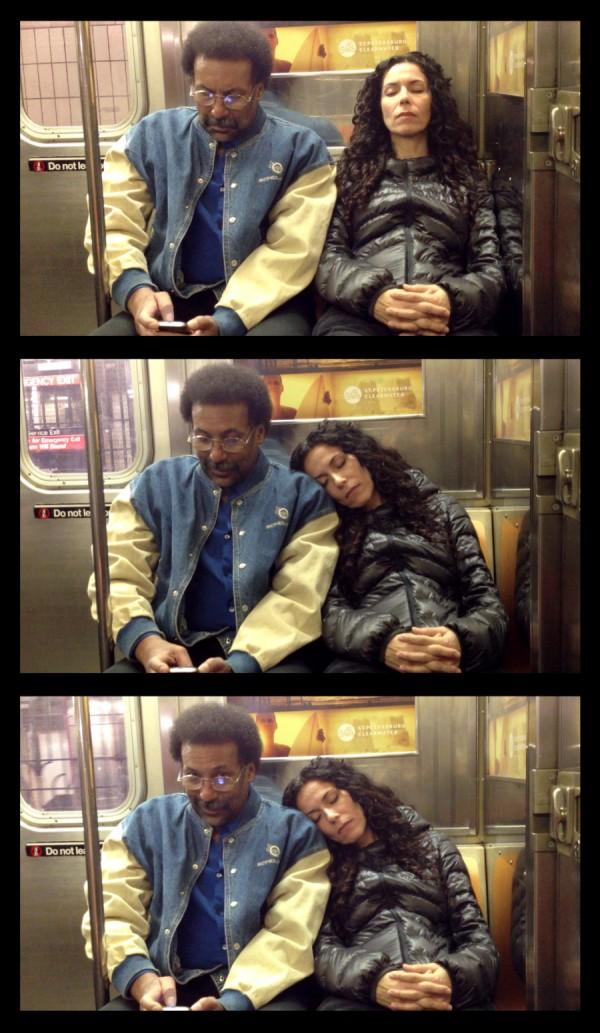 大家對陌生人睡著靠到自己肩膀的反應7