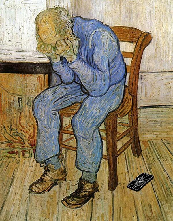 如果手機在一百年前就滿天飛,畫出來的話會是這樣15
