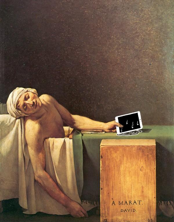 如果手機在一百年前就滿天飛,畫出來的話會是這樣6
