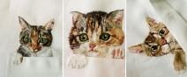 母愛限定!日本媽媽應兒子要求織了口袋裝貓咪的襯衫0