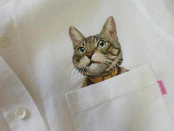 母愛限定!日本媽媽應兒子要求織了口袋裝貓咪的襯衫7