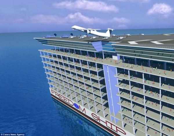 海上漂流之城!有學校、醫院、機場、公園、五萬居民5