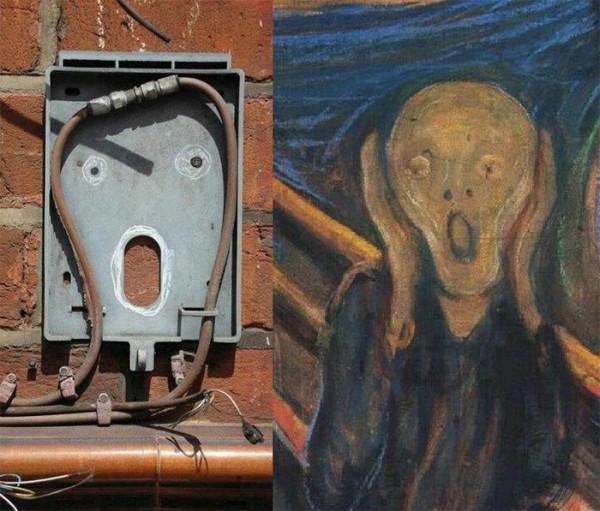 生活中意外出現的怪臉6