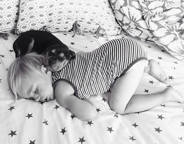 萌度超標!小孩和小狗每天一起睡午覺13