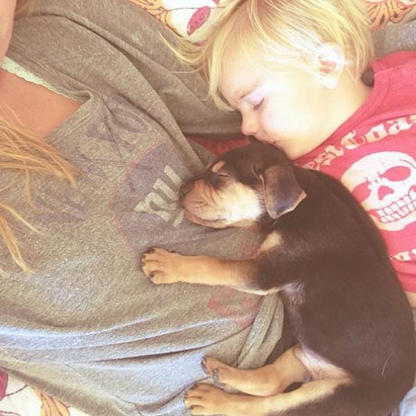 萌度超標!小孩和小狗每天一起睡午覺15