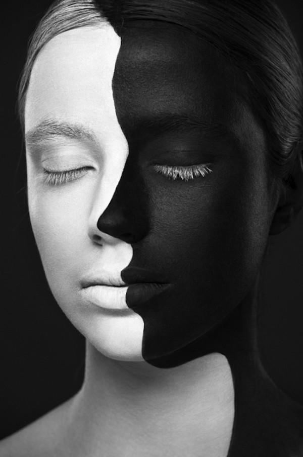 超強化妝術!把人類的臉變成2D平面11