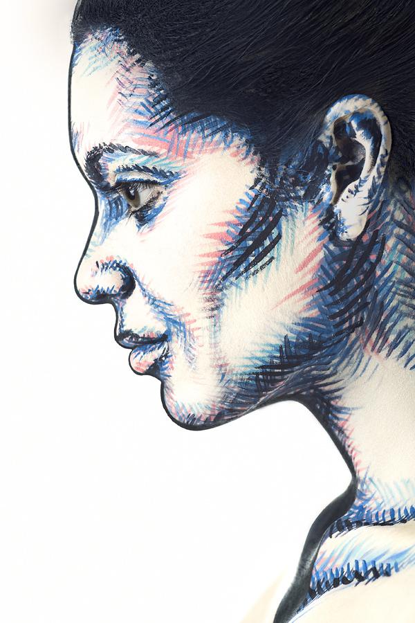 超強化妝術!把人類的臉變成2D平面3
