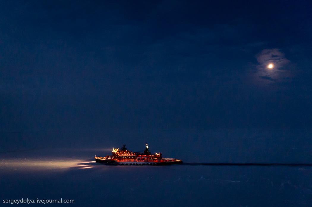 距離目標只剩∞!北極夜晚的破冰船11