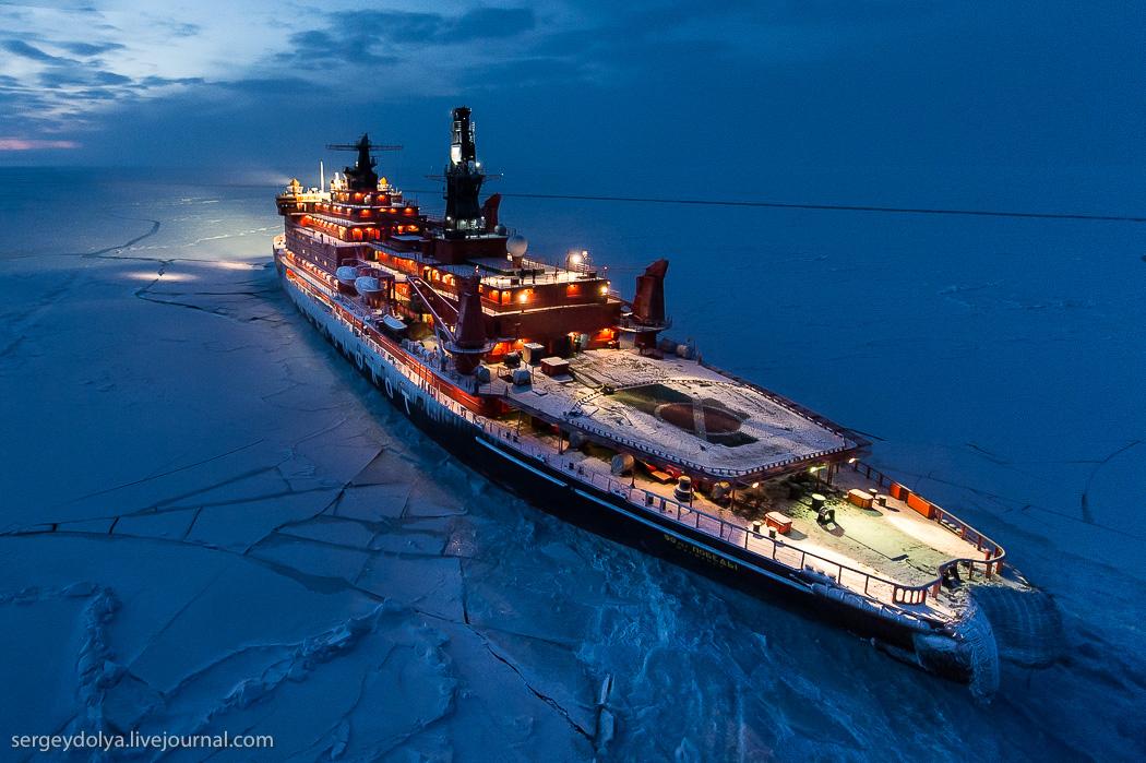 距離目標只剩∞!北極夜晚的破冰船13
